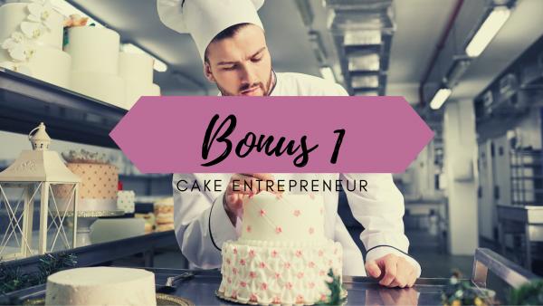 business plan cake design - coût de revient gâteau