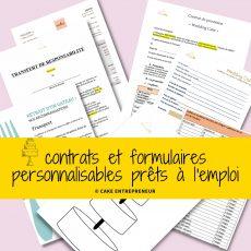 Contrats et formulaires personnalisables prêts à l'emploi pour un cake designer opérationnel